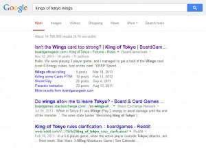 king of tokyo wings search