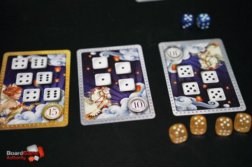 Roll For It Deluxe Edition cards dice