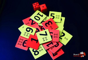 10 board game tiles dice
