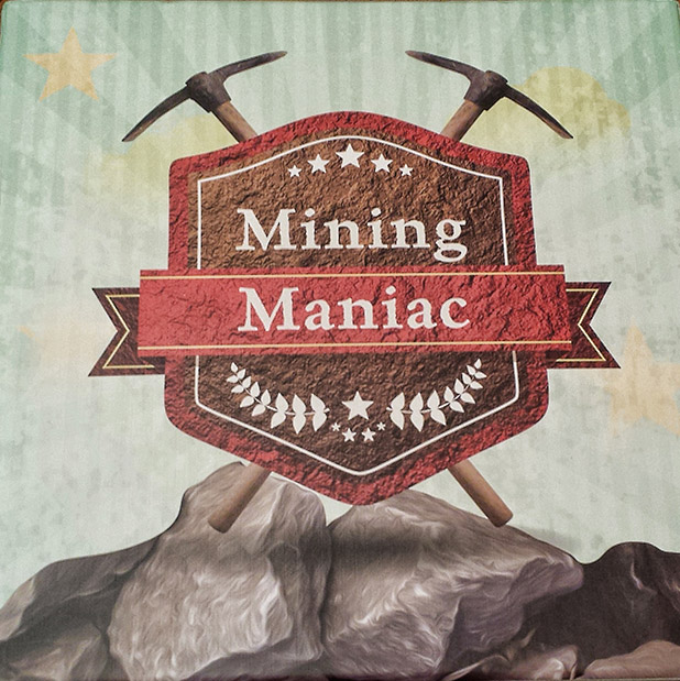 mining maniac board game box
