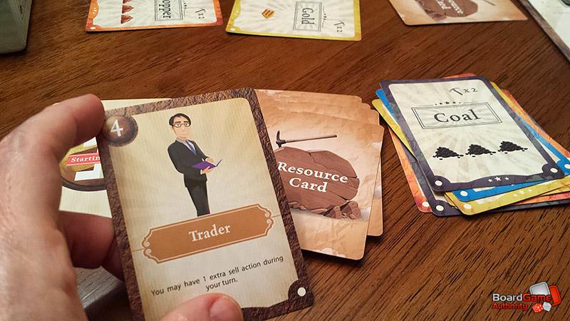 mining maniac trader character card