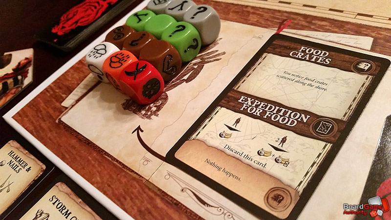 robinson crusoe board game dice