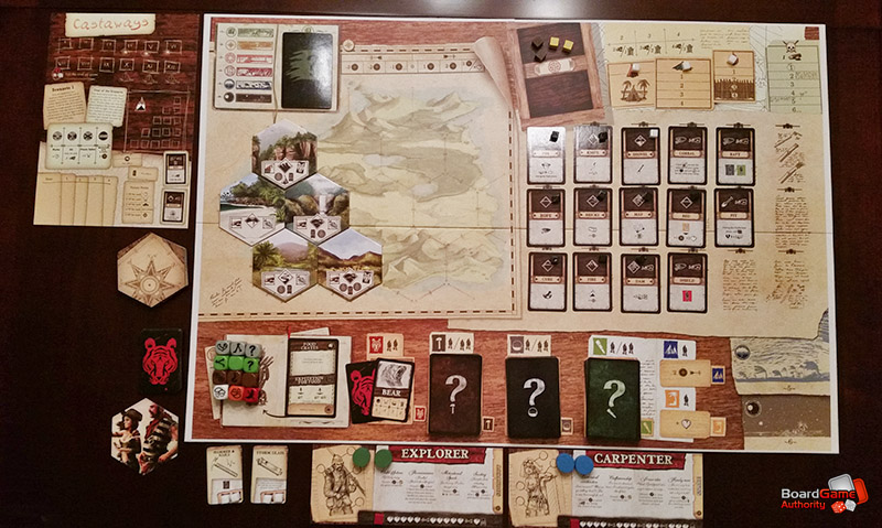 robinson crusoe board game setup