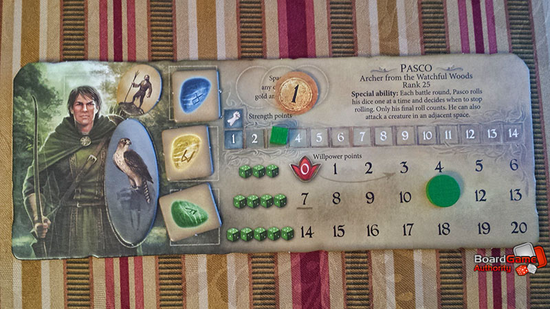 legends of andor game player board