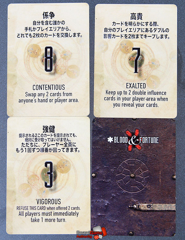 blood fortune role cards