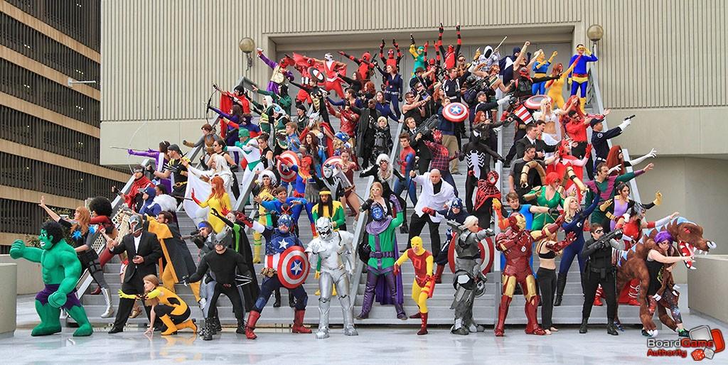 Photo de groupe de cosplay