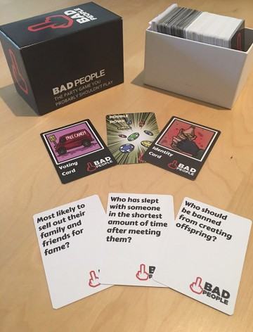 Bad People Box and Cards