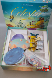 celestia board game box components