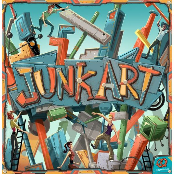 Junk Art - A Fun Dexterity Building Game Review -