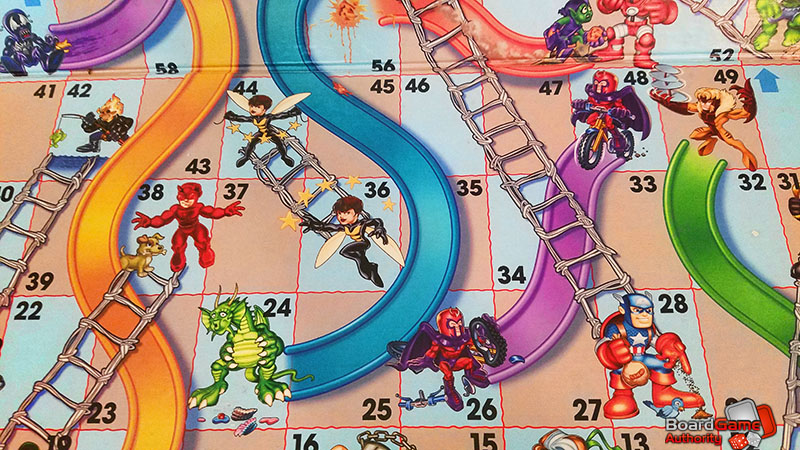 chutes and ladders marvel board
