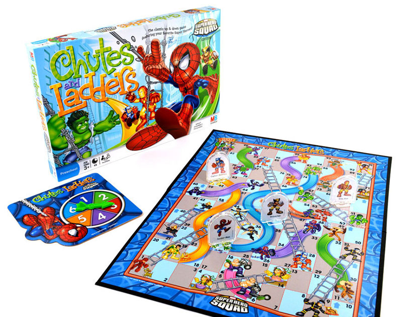 chutes and ladders marvel game