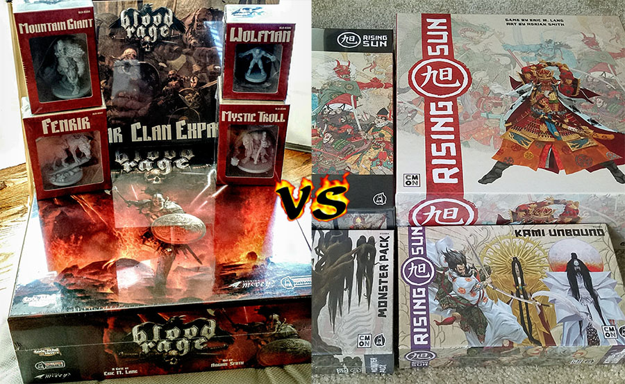 Blood Rage vs Rising Sun