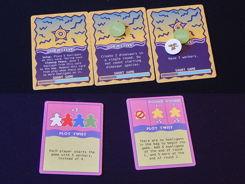 Dinosaur Island board game cards