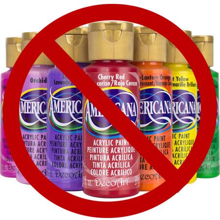 no craft paint